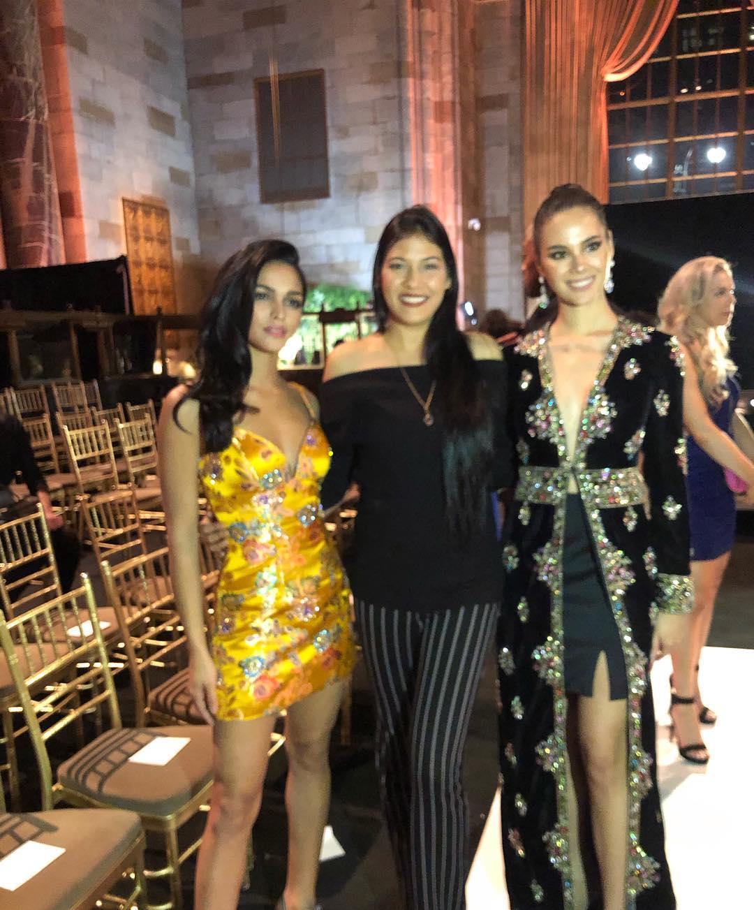 miss universe 2018 & miss puerto rico, top 5 de mu 2018, assiste the sherri hill show durante new york fashion week.  Cs35tdgj