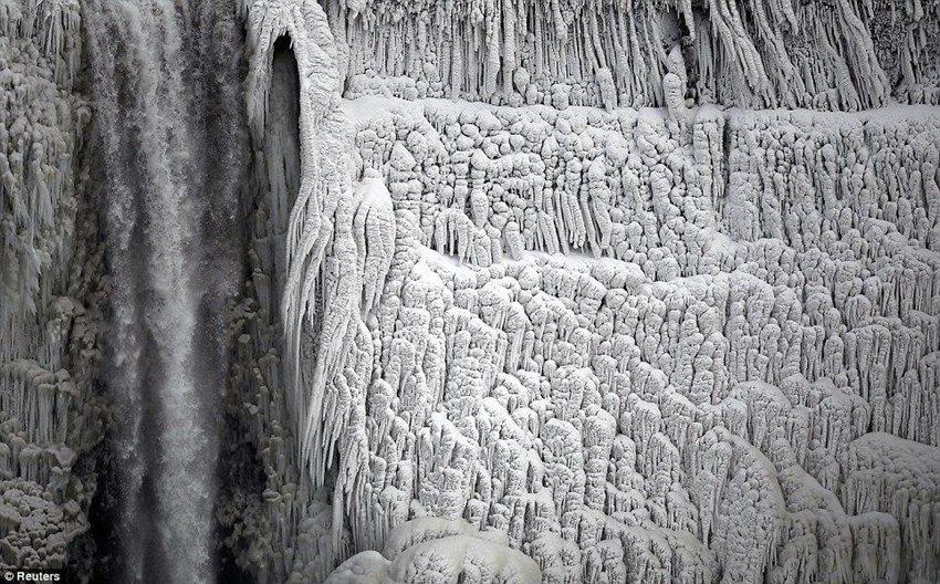 Фотографии замерзшего Ниагарского водопада