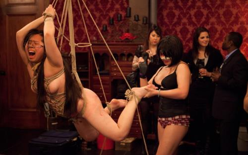 Isis Love, Krysta Kaos, Sparky Sin Claire, Skin Diamond - Gorgeous slave ash is given a birthday beating while slave sin is used by Isis Love (HD)