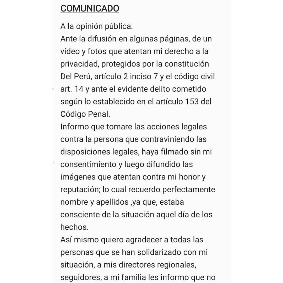 Anyella Grados, Miss Perú 2019, no renunciará a su corona: 'Tengo la conciencia tranquila' Xen39tc9
