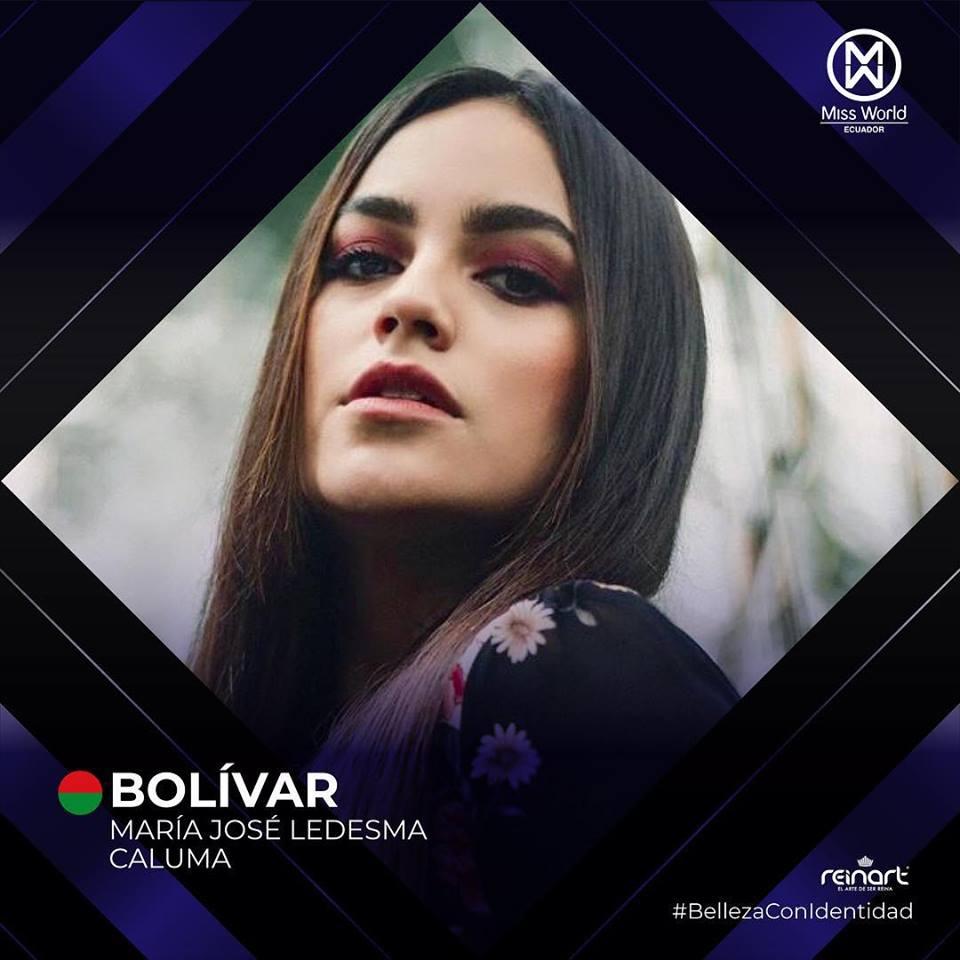 candidatas a miss world ecuador 2019. final: 27 de abril. 67lu63wm
