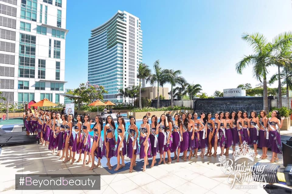 candidatas a binibining pilipinas 2019 em swimsuit (durante press conference). - Página 6 E3ssowai