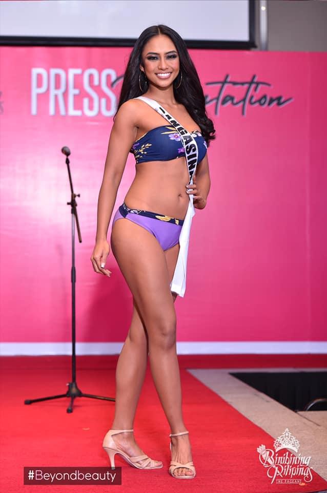 candidatas a binibining pilipinas 2019 em swimsuit (durante press conference). Jctuyrlt