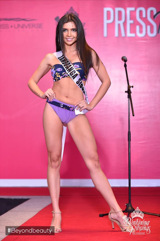 candidatas a binibining pilipinas 2019 em swimsuit (durante press conference). Swdcdwjo