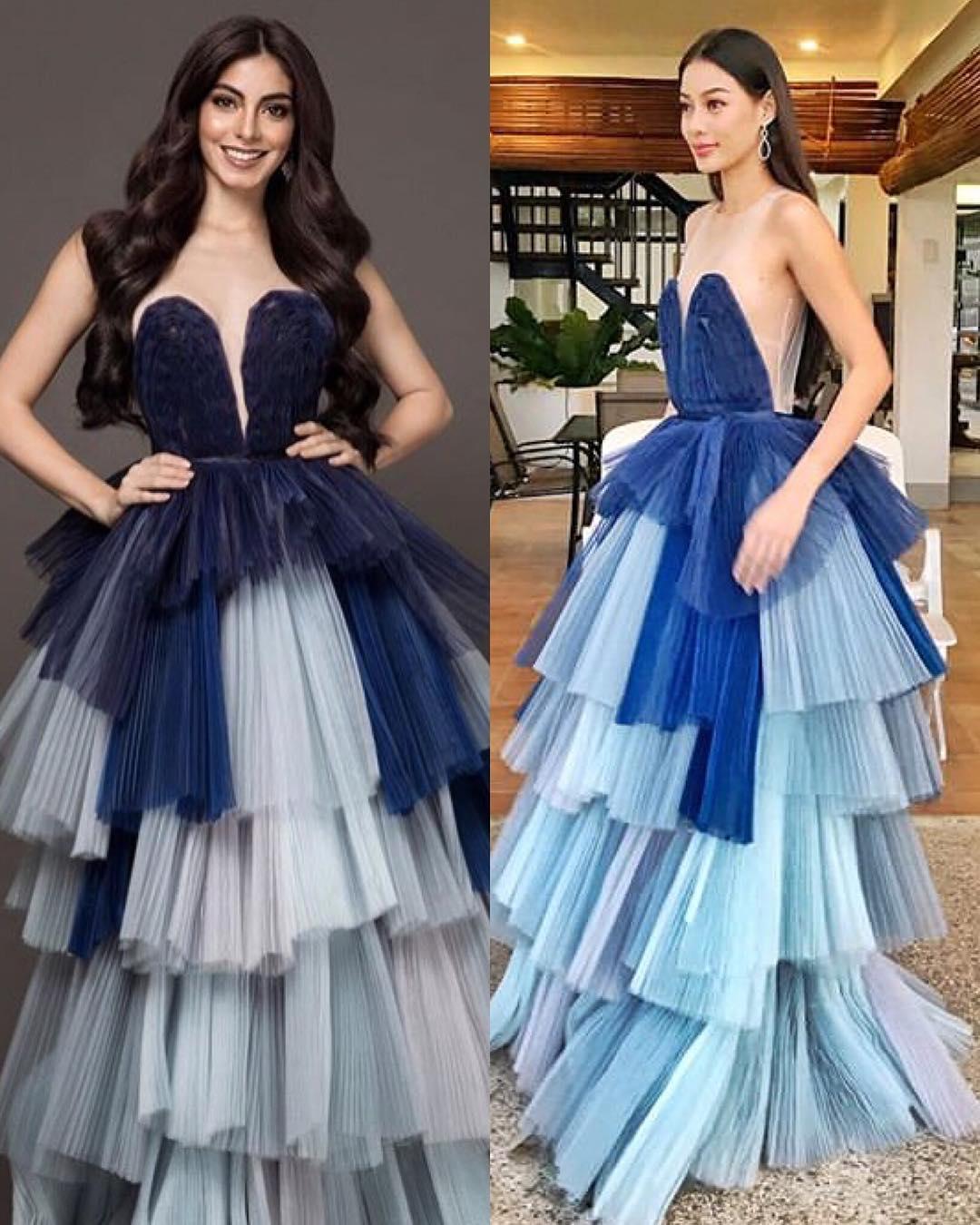miss universe ecuador 2018 & miss supranational philippines 2018 usando vestido igual. Edre4g8p